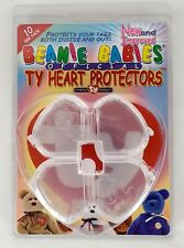 1999 Beanie Babies Official Authentic Ty Heart Tag Protectors Pkg of 10 for sale online
