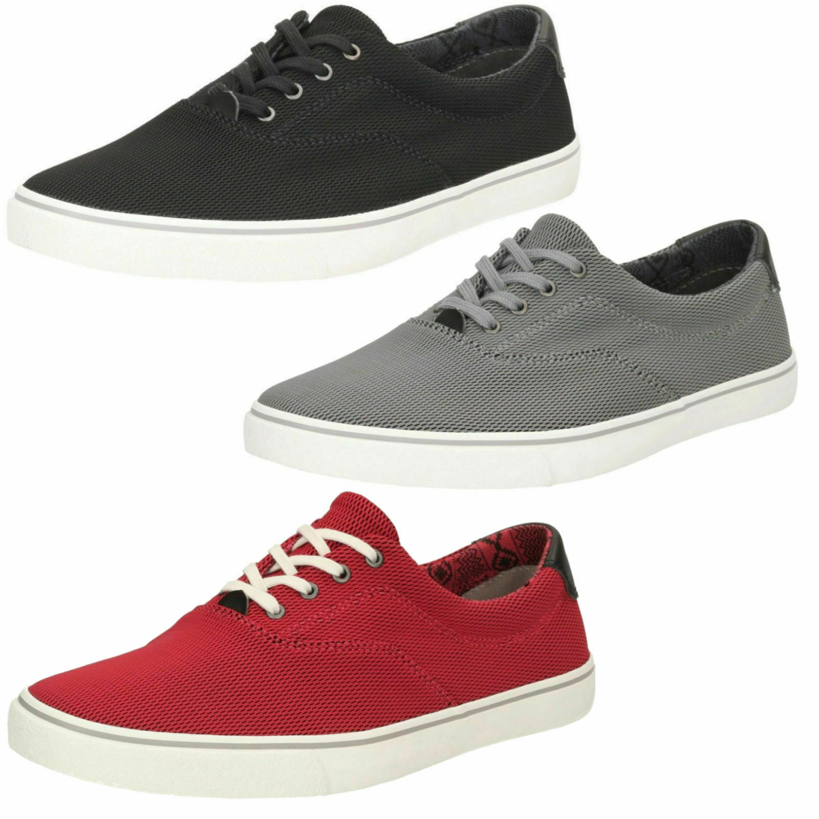 MENS CLARKS LACE UP CLASSIC CASUAL CANVAS WALKING SUMMER SHOES GOSLING WALK