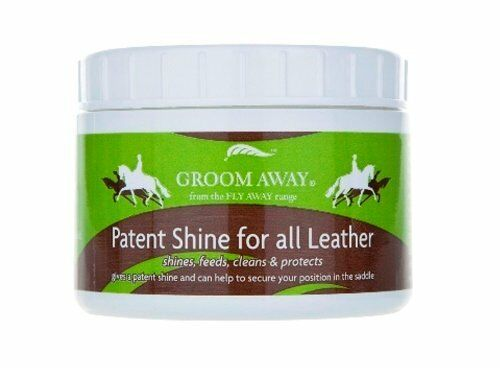 Groom Away - Patent Shine for Leather x 200Gm For  all Leather horses  most preferential