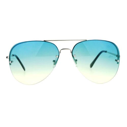 SA106 Color Rimless Oceanic Gradient Aviator Sunglasses