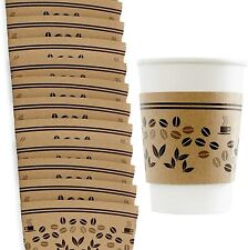 Disposable Cardboard Sleeves For Paper Coffee Cups Kraft Brown By Avant Grub