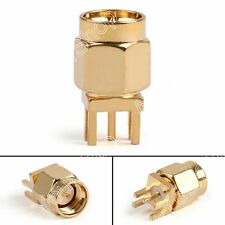 "10x SMA Male Plug Vertical PCB Edge Mount 1.6mm 0.063"" RF ST Koax Steckverbinder"