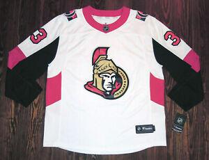 Ottawa Senators Jersey Custom 33 Habib NHL Hockey Fanatics White XL New Tags