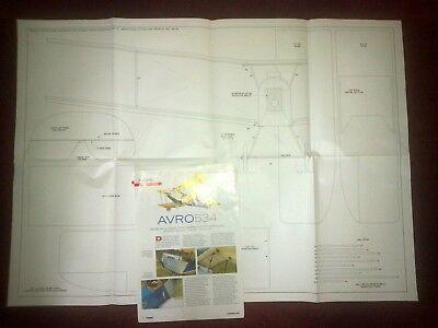 Avro 534 Indoor/parkflyer Rc Piano Per C Carr Con Il Massimo Write-er Rc Plan By C Carr With The Write Up It-it Mostra Il Titolo Originale