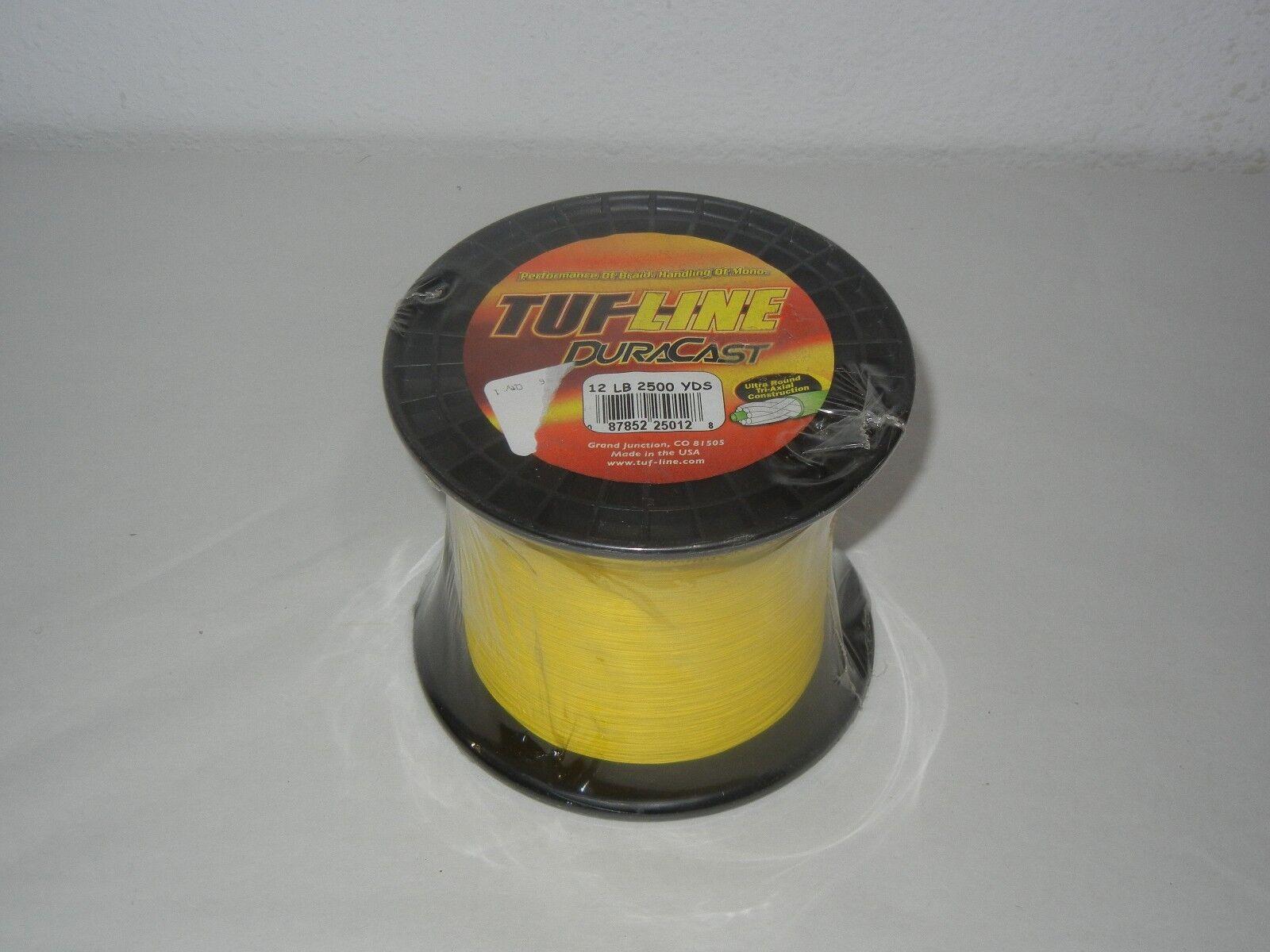 TUF LINE Gelb DURACAST ULTRA ROUND TRI-AXIAL CONSTRUKTION 12 LB 2500 YARDS