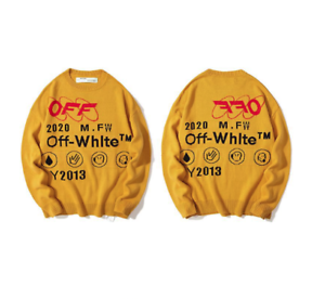2019 new OFF WHITE men/'s sweater sweater sweater pullover