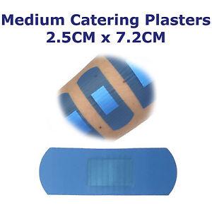 Qualicare-Premium-Catering-Blau-Erste-Hilfe-Wunde-Gips-Dressings-2-5cm-X-7-2cm