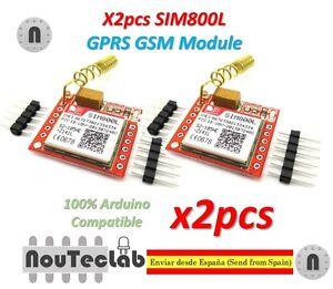 Details about 2pcs SIM800L GPRS GSM Module PCB Antenna SIM Board Quad band  for MCU Arduino