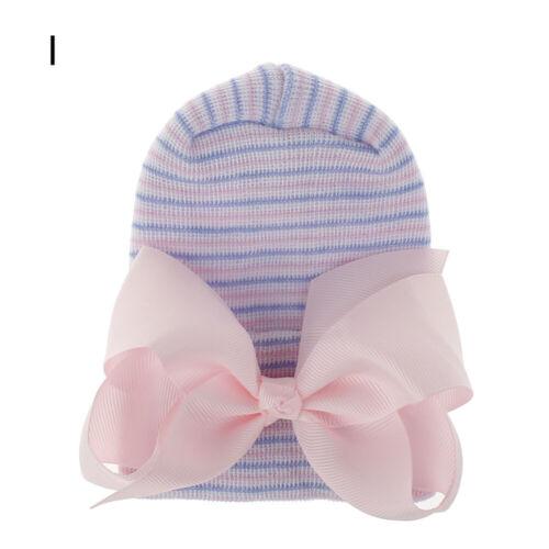 Soft Newborn Baby Girl Hat Turban Big Bow Cap Infant Nursery Beanie Headwrap Hot
