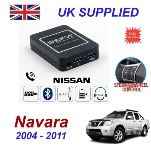 Para Nissan Navara streaming de música Bluetooth módulo SD AUX CD Cargador De Teléfono