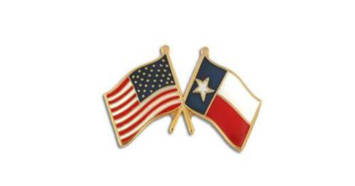 USA Flag American Flag Texas Flag Crossed Flags Lapel Hat Pin Tie Tac FAST SHIP