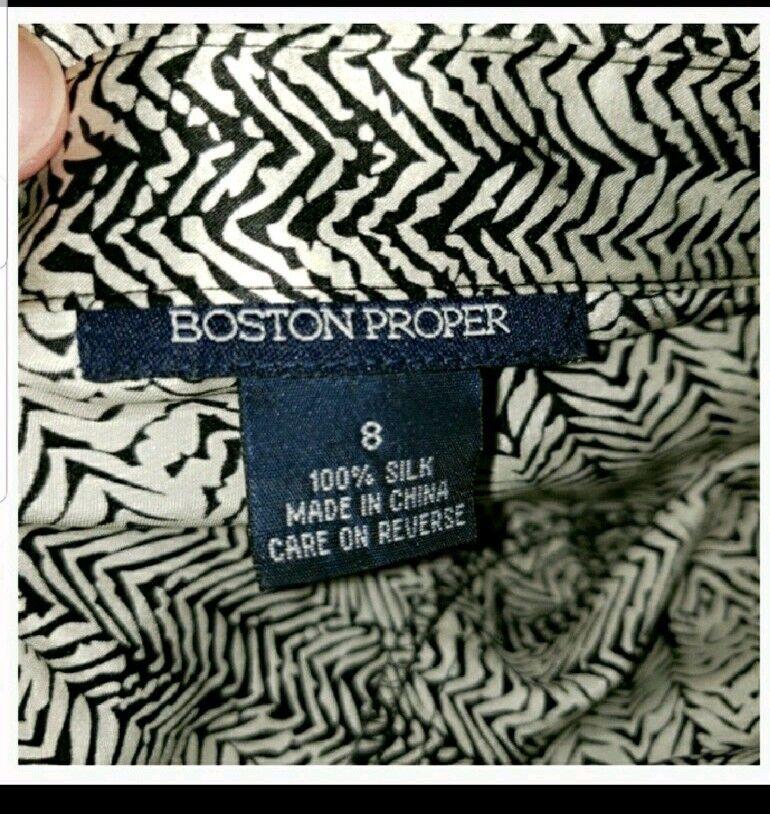 New Boston Proper Silk Long Sleeve Snakeskin Dress Size 8 8 8 d70037