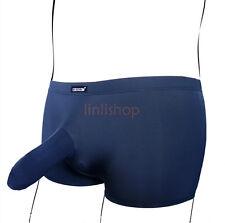 Men's Soft Penis/Cock Sheath Ice Silky Boxer Briefs/Trunks Underwear Lot Sale