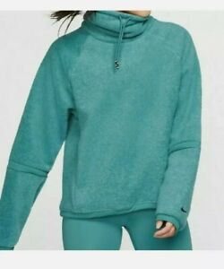 Nike Women's S Therma Training Fleece Cowl Neck Top BV5285 364