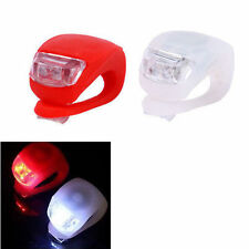 Mini Bike Cycling Frog Light Set 2LED White Front + 2LED Red Rear Safety Light