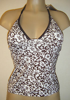 POUR MOI TANKINI TOP SPARKLE CHOCOLATE BROWN NON UNDERWIRED SOFT HALTER 1203