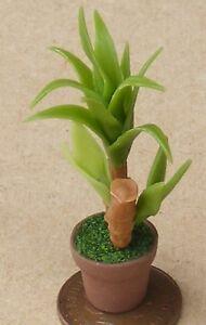 4x Miniature Céramique Fait main petit vert en céramique Pot de fleurs