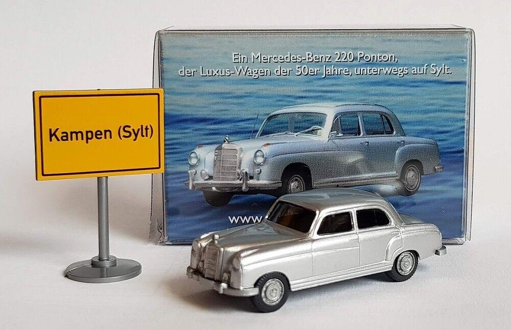 Edizione Speciale Wiking 1 87 (H0)  Mercedes 220 Pontone, silver -   Sylt 2
