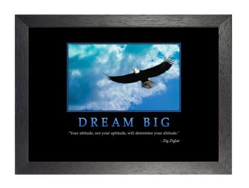 Dream Big Motivation 1 Zig Ziglar  Inspiration Life Quote Poster Eagle Photo