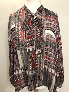 Women-s-Plus-Size-Long-Sleeve-Top-Size-20-Tunic-Blouse