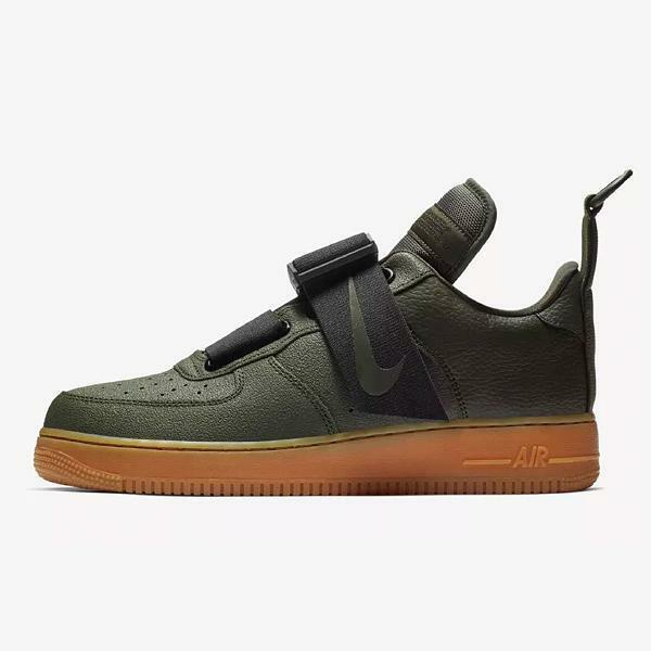 Nike Air Force 1 Utility Sequoia Green Black Brown Gum AO1531-300 New Size 10.5