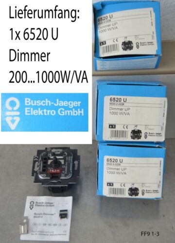 1x Busch-Jaeger utilisation 6520 U Buisson-drehdimmer 1000 W