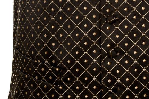 "Taglia extra-small 34-36 /""petto Black Gold Diamond Abito Da Sera Smoking Gilet"