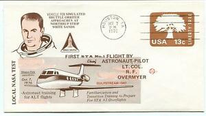 1976 First Sta Flight Astronaut Overmyer Shuttle White Sands Houston Nasa Space