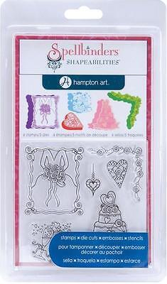 Spellbinders Hampton Art Shapeabilities CUPCAKES Die Cut Stamp Emboss Stencil
