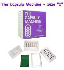 """0"" CAPSULES Filler MACHINE Kit FILLING Herbs POWDER Pills VITAMINS Medication"