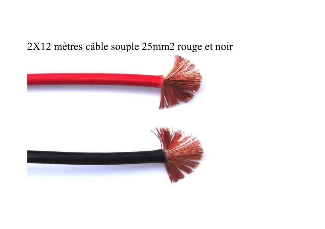 Batteriekabel flexibel 2x12 25mm2 rot und schwarz 2x12 flexibel meter f5668a