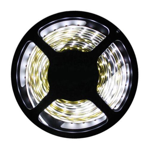 LED Strip Licht Streifen 5m Band 300 LEDs 2835 SMD DC12V Kaltweiß Lichterkette