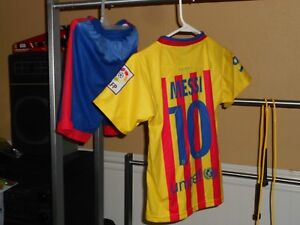 buy popular f5d3e d5274 Details about barcelona Messi Kid's soccer jersey youth jersey and shorts