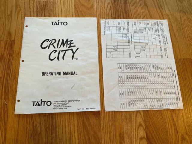 Crime City Video Arcade Game Manual  U0026 Wiring Diagram