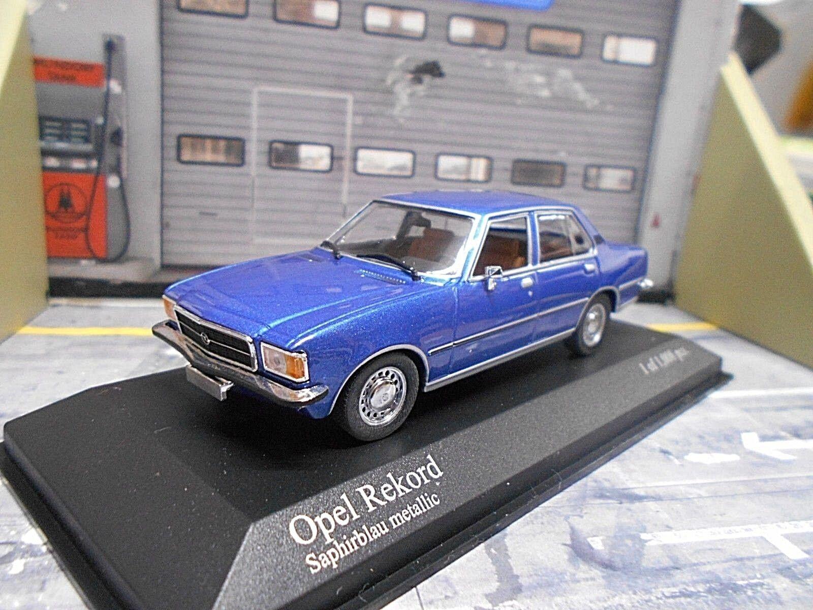 Opel record D LIMOUSINE Bleu bleu Met Saphir 1975 Minichamps 1 43