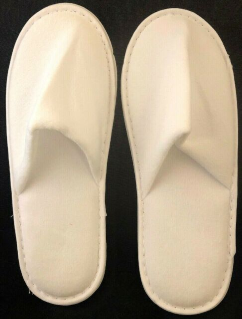 Towelling Closed Toe Hotel Slippers Spa Guest Disposable Travel Household Shoes