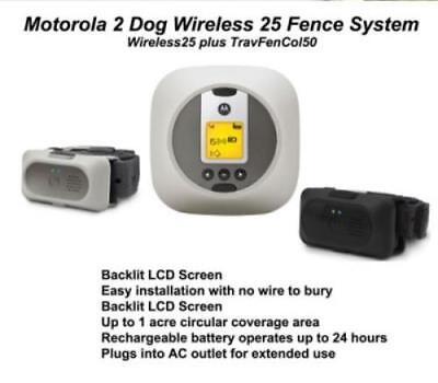 Motorola Wireless 2 Dog Containment Fence Portable