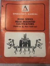 Allis Chalmers 8000 Series Rear Mounted Cultivator Fold Up Amp Non Fold Up Manual