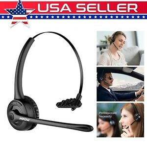Mpow Pro Trucker Bluetooth Headset Cell Phone Headphone With Microphone Black Us Ebay