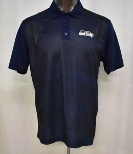 Majestic-Mens-NFL-Seattle-Seahawks-Cool-Base-Polo-Shirt-NWT-55-L
