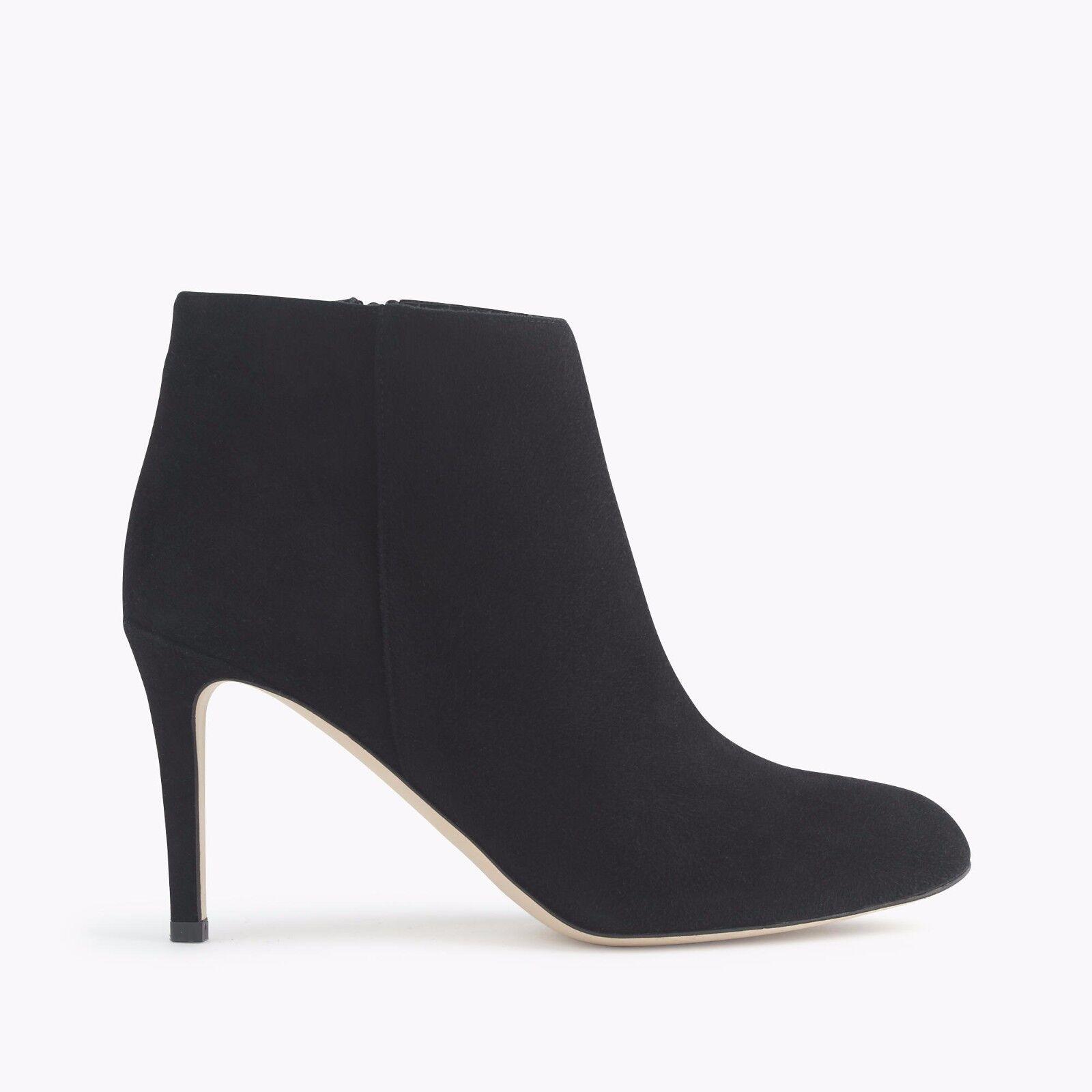 J.CREW Collection METROPOLITAN Black Suede ANKLE booties Heels SIZE 6.5