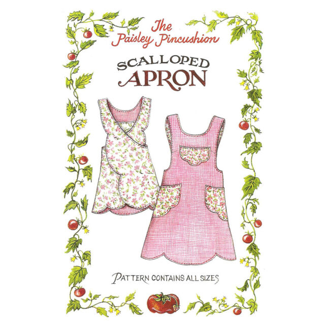 "THE PAISLEY PINCUSHION /""BLOOMIN/' APRON/"" Sewing Pattern"