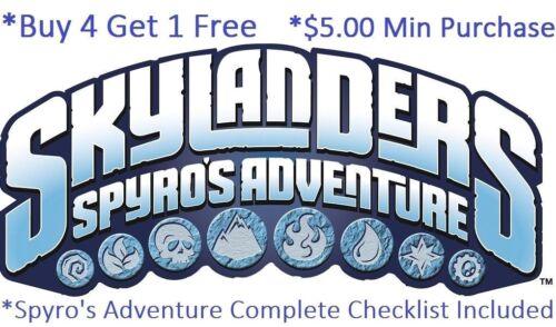 *Skylanders Spyro's Adventure Complete Your Set w Checklist* WiiU PS4 Xbox One