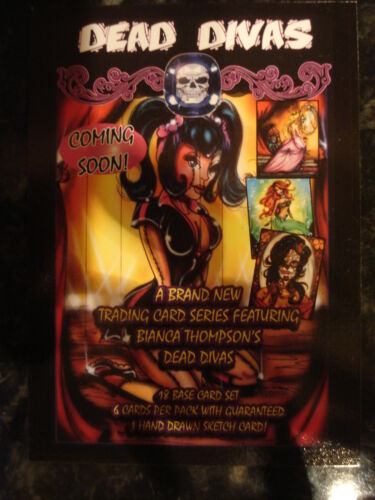 PR DEAD DIVAS ARTWORK BY BIANCA THOMPSON PROMOTIONAL CARD