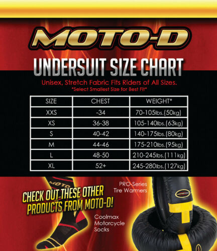 Moto D Summer Undersuit small NEW
