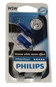 Philips-12961BVB2-lot-de-2-ampoules-W5W-12V-5W-T10-White-Vision-effet-Xenon