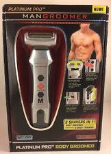 MANGROOMER Platinum Pro Body Groomer w Shock Absorber Flex Neck Men's Shaver
