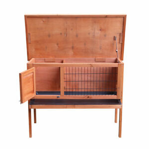 36-034-Wooden-Rabbit-Bunny-Pet-Cage-Small-Animal-House-Chicken-Coop-Single-Deck