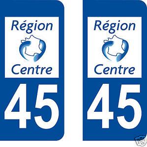 Département 58 sticker 2 autocollants style immatriculation AUTO PLAQUE