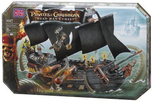 Mega Bloks 1017 Piratas Del Cocheibe Dead Man's Chest la Perla Negro Nuevo Sellado